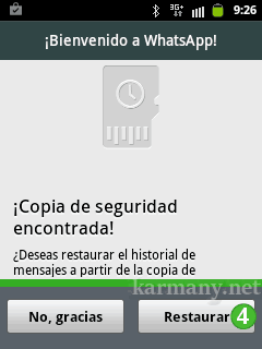 WhatsApp: copia seguridad encontrada