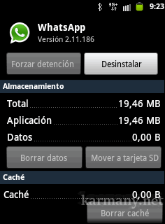 WhatsApp: datos borrados